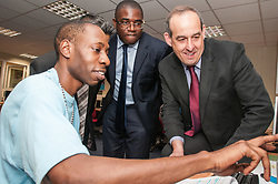 David Hanson MP and David Lammy MP visiting a prison 2015