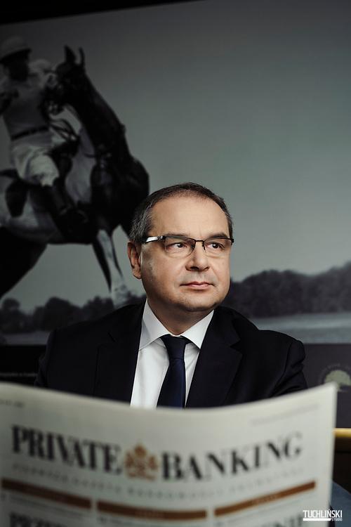 Warszawa, Polska; 07.02.2019r. Prezes Nobel Getin Bank Tomasz Miskiewicz.<br /> Fot. Adam Tuchlinski dla Forbes