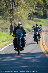 Clint Funderburg of Oregon riding his 1916 Indian during the Clint Funderburg of Oregon leads the pack through the backroads on his 1916 Indian during the Motorcycle Cannonball Race of the Century. Stage-3 from Morgantown, WV to Chillicothe, OH. USA. Monday September 12, 2016. Photography ©2016 Michael Lichter.