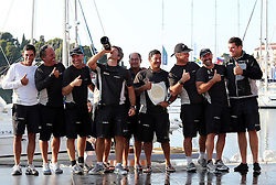 07.10.2012, Rovinj, CRO, Adris RC44 World Championship, Tag 5, im Bild Peninsula Petroleum's crew celebrate winning the 2012 RC44 sailing World Championship, // during day 5 of RC44 World Championship 2012 in Rovinj, Croatia on 2012/10/07. EXPA Pictures © 2012, PhotoCredit: EXPA/ Pixsell/ Jurica Galoic..***** ATTENTION - OUT OF CRO, SRB, MAZ, BIH and POL *****