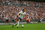 Harry Kane of Tottenham Hotspur in action. <br /> Premier league match, Tottenham Hotspur v AFC Bournemouth at Wembley Stadium in London on Saturday 14th October 2017.<br /> pic by Kieran Clarke, Andrew Orchard sports photography.