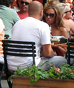 Mel B, Spice Girl Band, and husband Stephen Belafonte..Mel B and husband Stephen Belafonte enjoying the hot day in NY by having an early dinner outdoors at Bar Pitt Restaurant..New York, NY, USA..Sunday, June 27, 2010..Photo By iSnaper.com/ CelebrityVibe.com.To license this image please call (212) 410 5354; or Email: CelebrityVibe@gmail.com ; .website: www.CelebrityVibe.com.