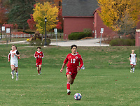 St Paul's School boys varsity soccer.  ©2020 Karen Bobotas Photographer