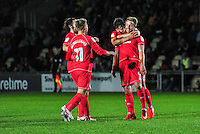 GOAL CELEBRATION - Milton Keynes Dons' Dean Bowditch celebrates scoring the his sides third goal <br /> <br /> Photographer Craig Thomas/CameraSport<br /> <br /> Football - The EFL Cup First Round - Newport County v Milton Keynes Dons - Tuesday 9th August 2016 - Rodney Parade - Newport<br />  <br /> World Copyright © 2016 CameraSport. All rights reserved. 43 Linden Ave. Countesthorpe. Leicester. England. LE8 5PG - Tel: +44 (0) 116 277 4147 - admin@camerasport.com - www.camerasport.com