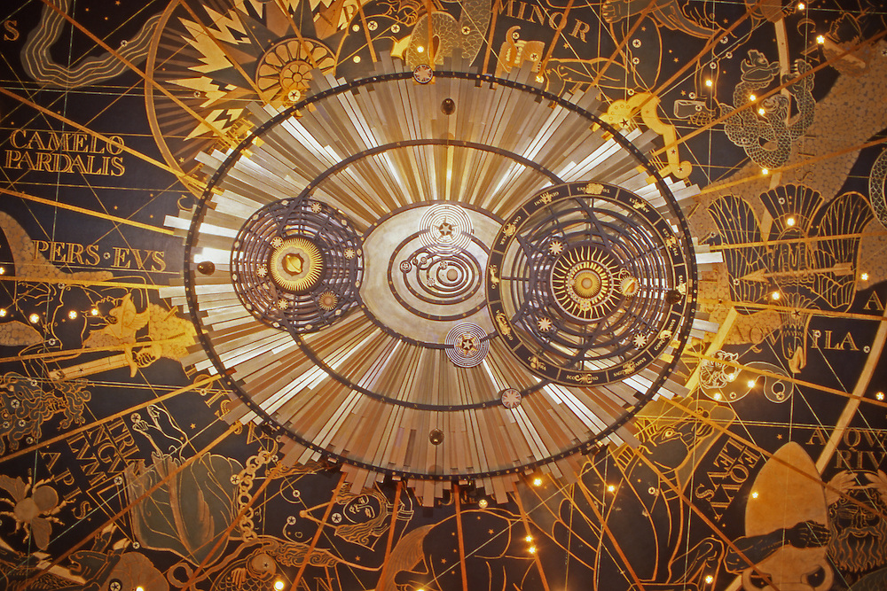 PA Capital Complex,Harrisburg, PA, The Forum Auditorium, Celestial Ceiling Architecture, Architects William Gehron and Sidney Ross,