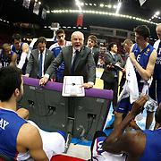 Anadolu Efes's Coach Dusan Ivkovic during their Turkish Airlines Euroleague Basketball Group A Round 1 match Anadolu Efes between Unics Kazan at Abdi ipekci arena in Istanbul, Turkey, Thursday, October 16, 2014. Photo by Aykut AKICI/TURKPIX