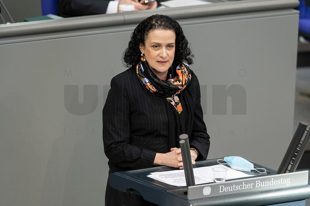 05 MAR 2021, BERLIN/GERMANY:<br /> Nicole Hoechst, MdB, AfD, waehrend der Debatte zum Internationalen Frauentag; Plenum, Reichstagsgebaeude, Deutscher Bundestag<br /> IMAGE: 20210305-01-022<br /> KEYWORDS: Nicole Höchst