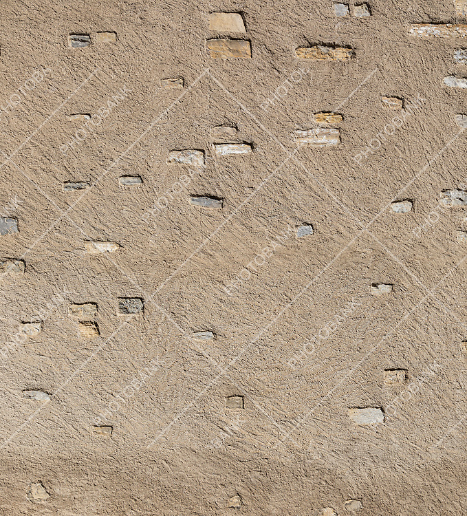 Wall texture detail with stones. Outdoor