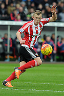 Southampton's James Ward-Prowse in action. Barclays Premier league match, Swansea city v Southampton at the Liberty Stadium in Swansea, South Wales on Saturday 13th February 2016.<br /> pic by  Carl Robertson, Andrew Orchard sports photography.