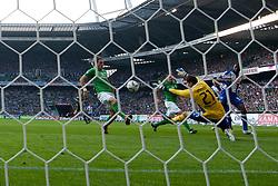 25.09.2011, Weser Stadion, Bremen, GER, 1.FBL, Werder Bremen vs Hertha BSC, im Bild.0:1 durch Adrián Ramos (BSC #09) gegen Sebastian Mielitz (Bremen #21) und Clemens Fritz (Bremen #8) .// during the Match GER, 1.FBL, Werder Bremen vs Hertha BSC on 2011/09/25,  Weser Stadion, Bremen, Germany..EXPA Pictures © 2011, PhotoCredit: EXPA/ nph/  Kokenge       ****** out of GER / CRO  / BEL ******