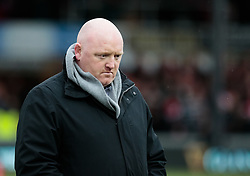 Dragons' Head Coach Bernard Jackman during the pre match warm up<br /> <br /> Photographer Simon King/Replay Images<br /> <br /> Guinness Pro14 Round 11 - Dragons v Cardiff Blues - Tuesday 26th December 2017 - Rodney Parade - Newport<br /> <br /> World Copyright © 2017 Replay Images. All rights reserved. info@replayimages.co.uk - www.replayimages.co.uk