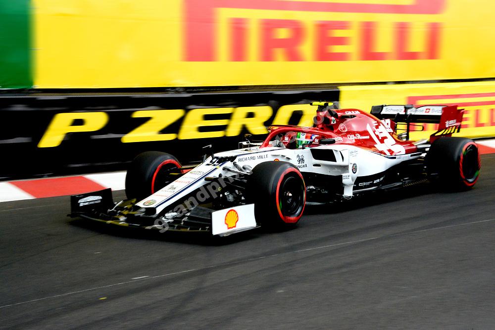 Antonio Giovinazzi (Alfa Romeo-Ferrari) during practice before the 2019 Monaco Grand Prix. Photo: Grand Prix Photo