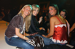 Left to right, MARTHA WARD, ALEX FINLAY and GABBY HARRIS at the Myla Debutantes Coming-Out show held at The Porchester Hall, Porchester Road, London on 31st January 2006.<br /><br />NON EXCLUSIVE - WORLD RIGHTS