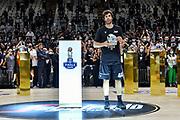 Milos Teodosic, Premiazione MVP<br /> Segafredo Virtus Bologna - A|X Armani Exchange Olimpia Milano<br /> Finale Playoff Scudetto Gara4<br /> LBA Legabasket Serie A UnipolSai 2020-2021<br /> Bologna, 11/06/2021<br /> Foto L.Canu / Ciamillo-Castoria
