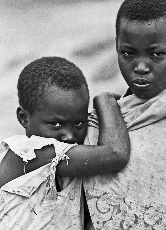 Rwandan refugee girls in Uganda, African portraits