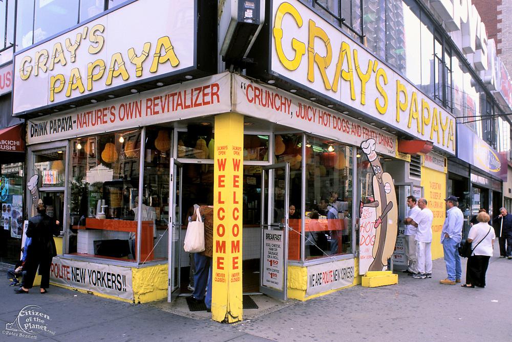 Gray's Papaya, 72nd Street, Broadway, Upper West Side, Manhattan, New York