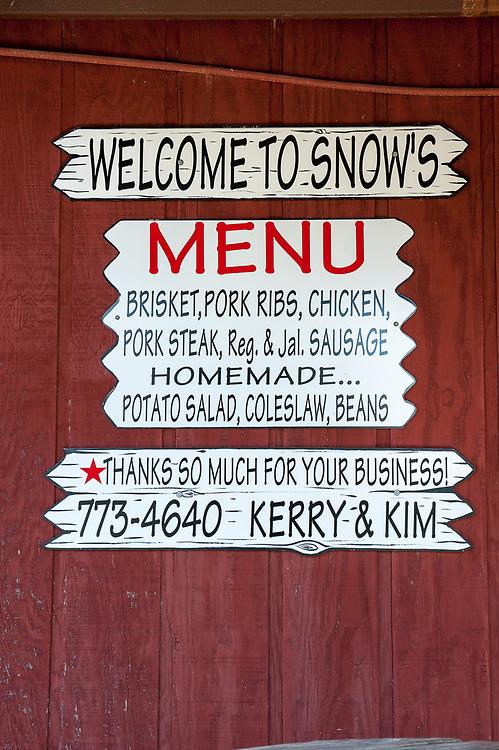 Snow's BBQ Lexington, Texas