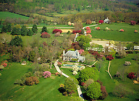 Springtime Aerial Photo of Residence