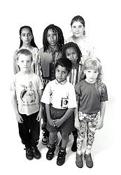 Group of children UK 1990s MR