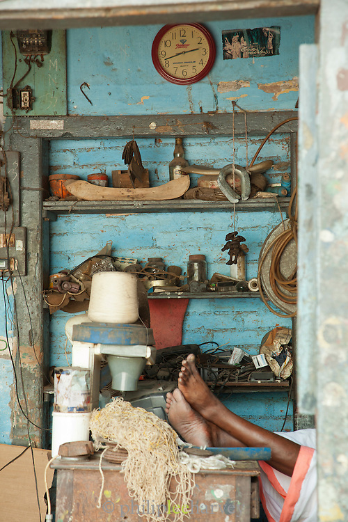An old store in the old town of Cochin, Kerala, India