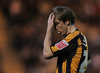 Photo: Lee Earle.<br /> Plymouth Argyle v Hull City. Coca Cola Championship. 09/12/2006. Hull's David Livermore looks dejected.