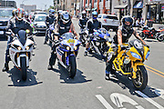 Motorcycles in Downtown Huntington Beach