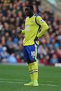Romelu Lukaku of Everton looks on. Premier League match, Burnley v Everton at Turf Moor in Burnley , Lancs on Saturday 22nd October 2016.<br /> pic by Chris Stading, Andrew Orchard sports photography.