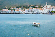 A view of the harbor in Cadaques, Spain