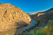 Interior Plateau and Fraser River in Fraser Canyon<br />Near Lillooet<br />British Columbia<br />Canada