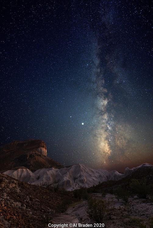 Milky Way over Cerro Castellan, Big Bend National Park