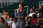 January 8, 2017: Head coach Katie Meier of Miami in action during the NCAA basketball game between the Miami Hurricanes and the Notre Dame Fighting Irish in Coral Gables, Florida. The 'Irish defeated the 'Canes 67-55.