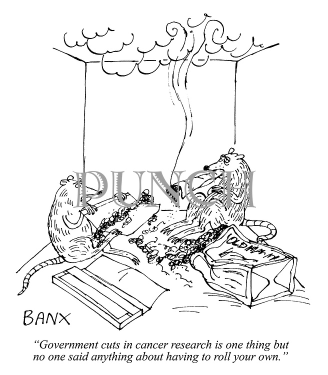 """""""Government cuts in cancer research is one thing but no one said anything about having to roll your own."""""""