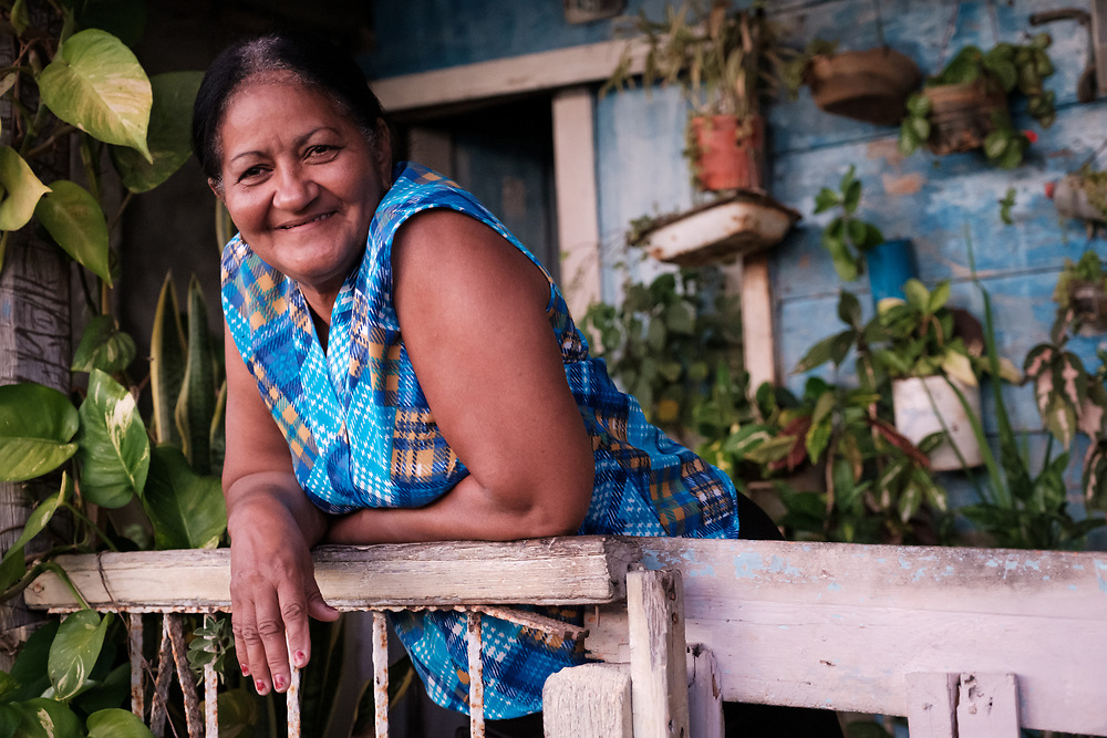 BARACOA, CUBA - CIRCA JANUARY 2020: Portrait of woman on the streets of Baracoa