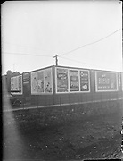 Hoardings at Ringsend.   B269..1959.05.12.1959..12.05.1959..5th December 1959..A series of Billboards pictured at Ringsend in Dublin.