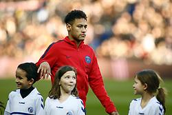February 17, 2018 - Paris, France - Neymar Jr of Paris Saint-Germain looks on during warmup before the Ligue 1 match between Paris saint-Germain and Strasbourg at Parc des Princes on February 17, 2018 in Paris, France  (Credit Image: © Mehdi Taamallah/NurPhoto via ZUMA Press)
