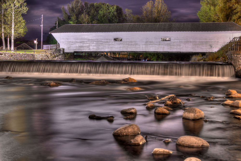 The Doe River Covered Bridge, built in 1882 and one of the few remaining covered bridges in the state across the Doe River in Elizabethton, TN on Sunday, May 3, 2015. Copyright 2015 Jason Barnette