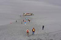 Islande, groupe de touristes en excursion // Iceland, tourist group