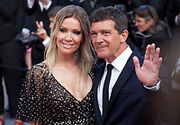 Nicole Kimpel and Antonio Banderas at the closing ceremony and The Specials film gala screening at the 72nd Cannes Film Festival Saturday 25th May 2019, Cannes, France. Photo credit: Doreen Kennedy