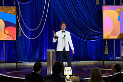 Tomas Vinterberg accepts the Oscar® for International Feature Film on behalf of Denmark during the live ABC Telecast of The 93rd Oscars® at Union Station in Los Angeles, CA, USA on Sunday, April 25, 2021. Photo by Todd Wawrychuk/A.M.P.A.S. via ABACAPRESS.COM.