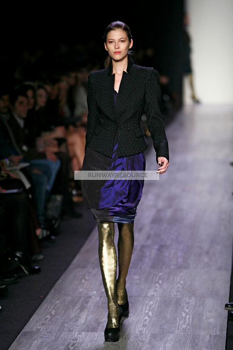 Yulia Kharlaponova wearing the BCBG Max Azria Fall 2009 Collection