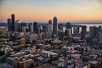 Capitol Hill neighborhood (foreground) & Seattle Skyline