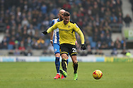 Burton Albion midfielder Michael Kightly (28) during the EFL Sky Bet Championship match between Brighton and Hove Albion and Burton Albion at the American Express Community Stadium, Brighton and Hove, England on 11 February 2017.