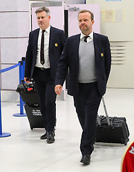 Ed Woodward and The Manchester United team arrive home at 3.30am early on Wednesday morning after losing the UEFA Super Cup to Real Madrid