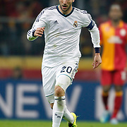 Real Madrid's Gonzalo Higuain during their UEFA Champions League Quarter-finals, Second leg match Galatasaray between Real Madrid at the TT Arena AliSamiYen Spor Kompleksi in Istanbul, Turkey on Tuesday 09 April 2013. Photo by Aykut AKICI/TURKPIX