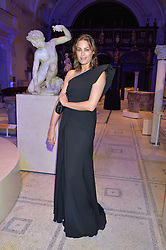 YASMIN LE BON at a private view of Alexander McQueen's Savage Beauty exhibition hosted by Samsung BlueHouse at the V&A, London on 30th March 2015.