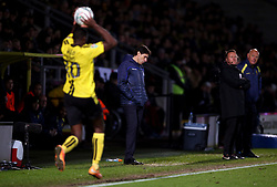 Nottingham Forest manager Aitor Karanka appears dejected on the touchline during the Carabao Cup, Fourth Round match at the Pirelli Stadium, Burton.