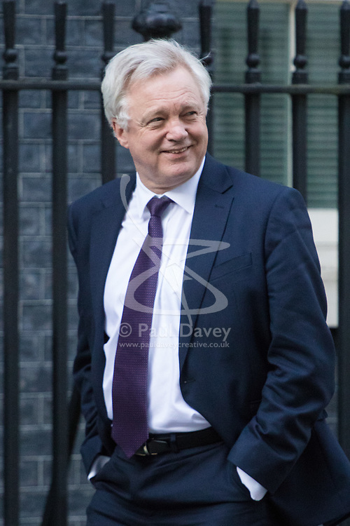 Downing Street, London, March 15th 2017. Secretary of State for Exiting the European Union David Davis is seen in Downing street.