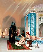 Jean-Léon Gérôme (1824–1904) French painter and sculptor  Title  Pool in a Harem