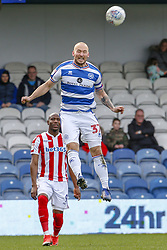 March 9, 2019 - London, England, United Kingdom - Queens Park Rangers captain Toni Leistner heads the ball clear during the second half of the Sky Bet Championship match between Queens Park Rangers and Stoke City at Loftus Road Stadium, London on Saturday 9th March 2019. (Credit Image: © Mi News/NurPhoto via ZUMA Press)