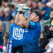 DUBLIN, IRELAND:  October 9:   Seán Cronin #2 of Leinster prepares to feed a line out during the Leinster V Zebre, United Rugby Championship match at RDS Arena on October 9th, 2021 in Dublin, Ireland. (Photo by Tim Clayton/Corbis via Getty Images)
